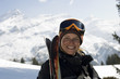 Female skier looking at camera