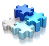Fototapety Puzzle Blue Harmony