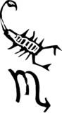 Primitive Zodiac Sign- Scorpio poster
