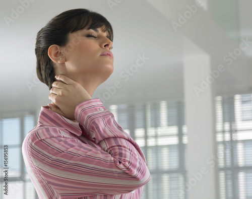 A woman dealing with stress