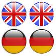 Englische und Deutsche Fahne als Button