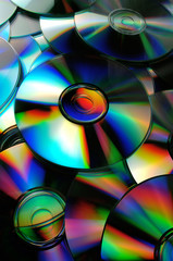 reflets multicolor sur CD