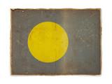 grunge flag of Palau poster