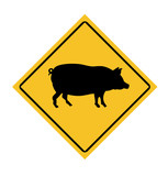 Swine Fle road sign poster