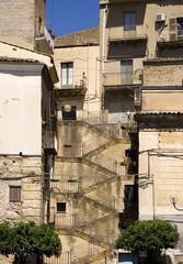 Scalinata della piazza Margherita a Leonforte