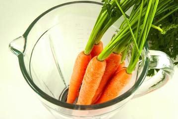 Carrot in mixer
