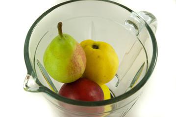 Fruits in mixer
