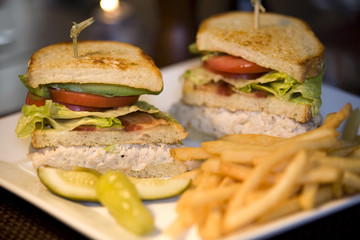Classic Club Sandwich with French Fries
