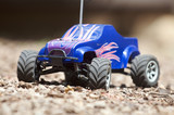 close up of toy RC truck