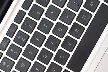 close up of laptop keyboard