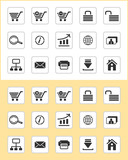 Set of e-commerce icons poster