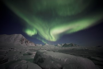 Northern lights, Svalbard, Spitsbergen