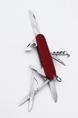 Suisse - Couteau d'officier noir et rouge