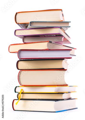 Leinwanddruck Bild Bücherstapel