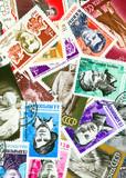 Communist propaganda vintage  stamps poster