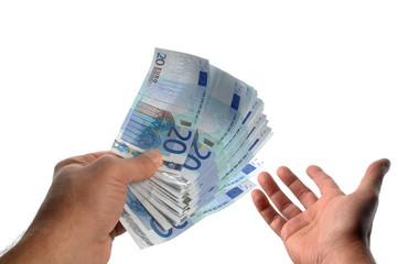 transaction financière en espèces