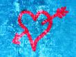 coeur amour sur graffiti