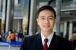 Good looking asian business man