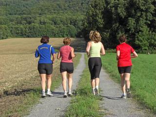 Vier Läuferinnen