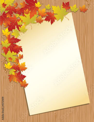 formal letter background. Old paper letter on wooden