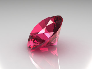 Round Ruby Gemstone