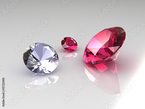 Set of diamond and ruby gems