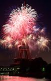 Feux d'artifice 14 Juillet 2009 Tour Eiffel