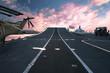 Leinwandbild Motiv HMS Ark Royal aircraft carrier flagship of  British Royal Navy