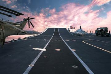 HMS Ark Royal aircraft carrier flagship of  British Royal Navy