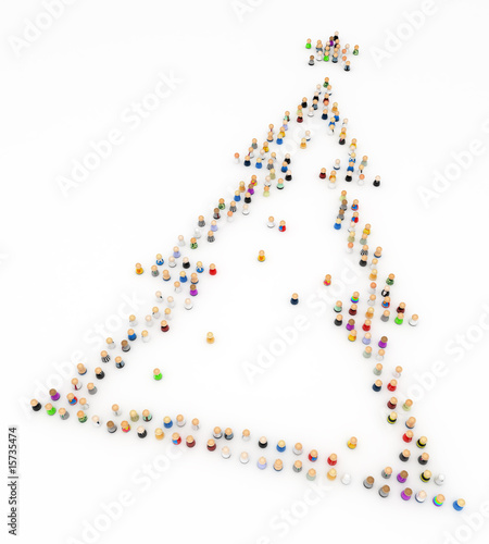 Cartoon Crowd, Christmas Tree Shape