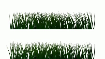 grass blown by wind (looping animation)
