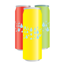 Tin cans - vector illustration