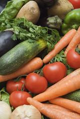 Fondo de hortalizas frescas.
