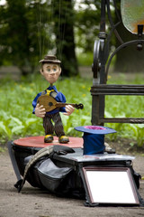 Puppet Musician in the Park