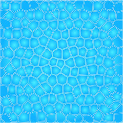 Blue cells water background
