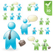 People vector 3D icon set