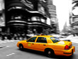 canvas print picture - Taxi at times square
