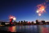 Brooklyn bridge and Fireworks. - Fine Art prints