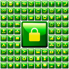 Vector beautiful icon set