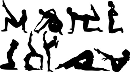Morning exercises icons