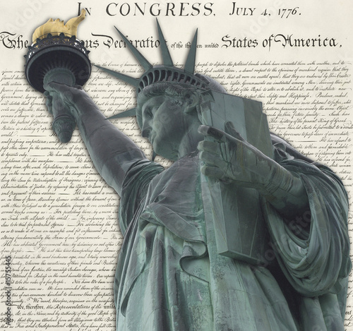 Statue of Liberty Declaration Background