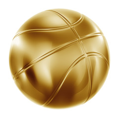 Basketball in gold