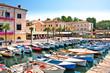 Leinwanddruck Bild - Bardolino Gardasee Italien Hafen