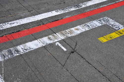 Fotobehang Motorsport Formel 1 - Motorsport - pole position (Startplatz 1)