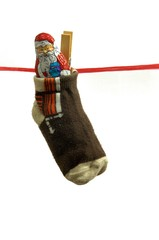 Nikolaus im Socken