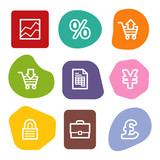 E-business web icons, colour spots series