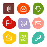 E-mail web icons, colour spots series