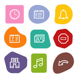 Organizer web icons, colour spots series