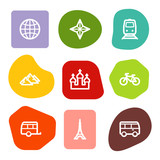 Travel web icons set 2, colour spots series