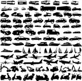 Fototapety transportation silhouettes collection - vector